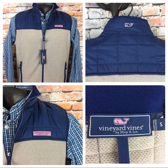 5d53b22d Vineyard Vines Jackets & Coats | Jacquard Full Zip Fleece Vest 125 ...